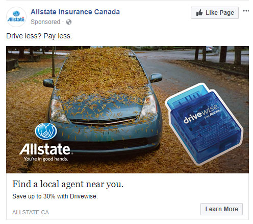 Advertisement for Allstate Insurance